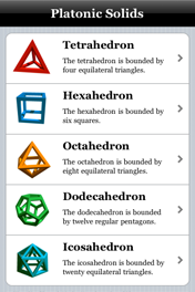 a brief summary of the five platonic solids tetrahedron hexahedron octahedron dodecahedron and icosa There are five regular polyhedra these are they: tetrahedron, cube/hexahedron, octahedron, dodecahedron and icosahedron here is a short summary in form.